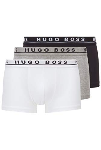 BOSS Herren Trunk 3P CO/EL Dreier-Pack Boxershorts aus Stretch-Baumwolle mit Logo am Bund,L,Assorted-pre-pack
