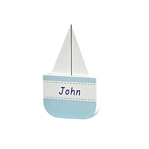 ZAKRLYB Decoración de madera para niños Dibujos animados de velero Barco de...