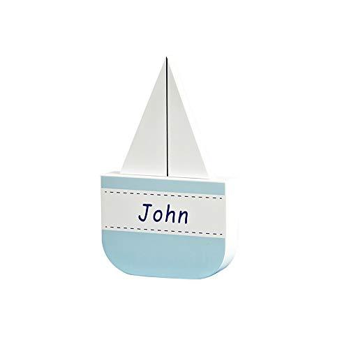 ZAKRLYB Decoración de madera para niños Dibujos animados de velero Barco de vela Dormitorio Dormitorio para niños Decoración de escritorio Día de cumpleaños Día de los niños Regalo adecuado para la sa