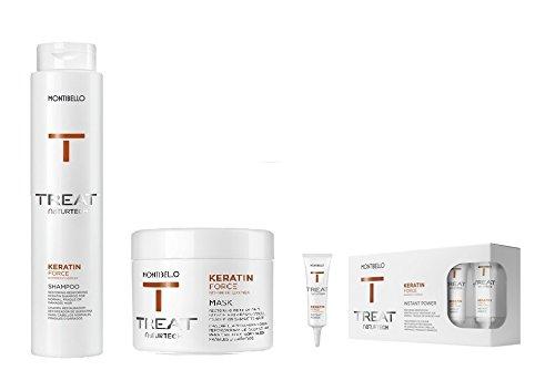 montibello naturtech Keratin Force Shampoo 500ml, Máscara 500ml y Instant Power 12ml (10)