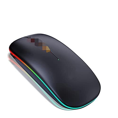 MMBH Wireless Bluetooth Cursor Mouse Player Mute Ergonomía Adecuado para portátil (color RGB Bluetooth Negro)