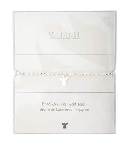 Schutzengel Armband Silber/Elastikarmband mit Anhänger Engel/mit Geschenkkarte