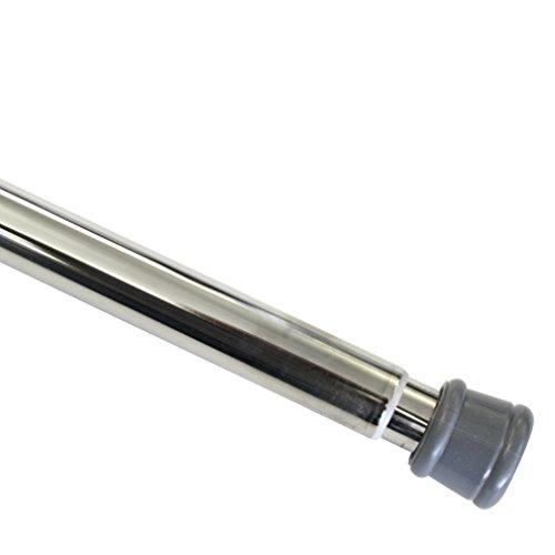 GARDINIA Spannstange, Metall-Stange, Ausziehbar, Montage ohne Schrauben und Bohren, Durchmesser 23/26 mm, Länge 125-220 cm, Nickel-Optik