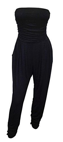 eVogues Plus Size Jumpsuit Black - 2X