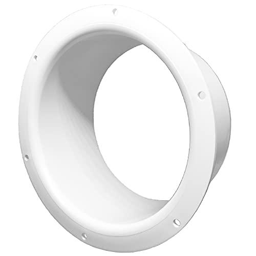 Wandflansch Ø 150 mm Einlass-Rohrverbinder für Lüftungskanal PVC - Durchmesser Ø 150 mm - Wandplatte HVAC Luftsystem Element