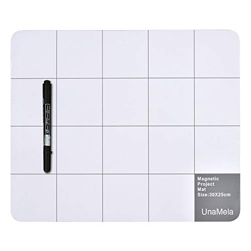 Magnetic Pro Mat Unamela Large Size Writing Note mat with Dry Erase Pen - preventing Losing Screws When Repairing Cell Phone,Laptop or Other Electronics (11.8 inch x9.8 inch)