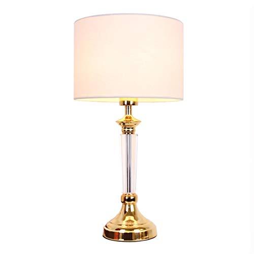 YCL Lámpara de mesa Lámpara de sobremesa Decorativa de Alto Nivel, Conveniente, con botón, Interruptor, botón, Europeo, lámpara de sobremesa, Cristal de Alto Grado