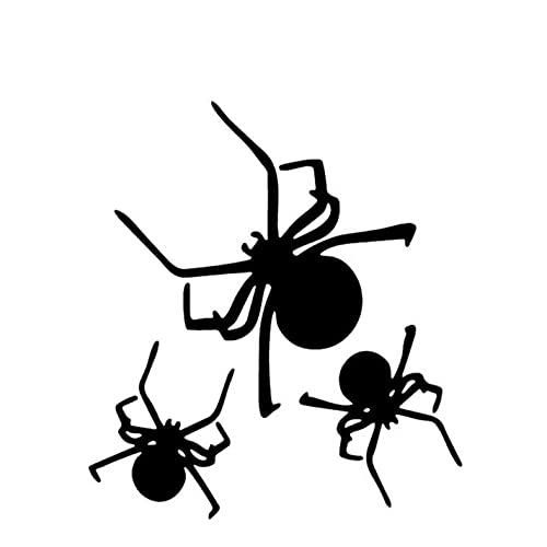 PAOPD 3 Piezas Pegatinas de Coche 13,5 CM * 15,2 CM arañas Pegatina Divertida Coche, Furgoneta, Ordenador portátil, Puertas o Paredes Ideal para Furgonetas Camper