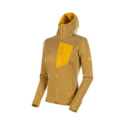Mammut Damen Aconcagua Light Hooded Midlayer-Jacke mit Kapuze, golden, L