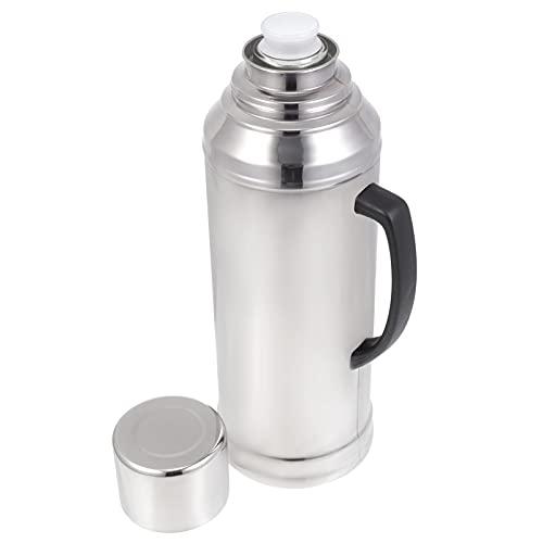 HEMOTON Acero inoxidable jarra de café termal hervidor de agua caliente bebidas de agua fría tetera café jarra botella para jugo bebida restaurante 2. 0L