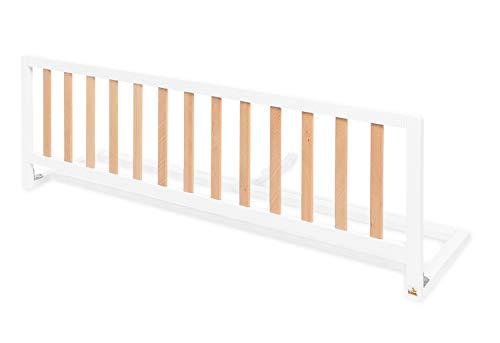 Pinolino 172489 Comfort - Barrera protectora para cama (1 unidad), color blanco/natural, color blanco