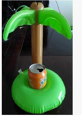 Best Buy! Xucus 2016 Summer Bath Toys Cute Drink Can Holder PVC Inflatable Floating Coconut Trees To...