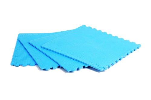 FA Sports 622 - Tappeto Proteggi Pavimento Protectfloor Xtra, Set da 4 pz, 60 x 60 x 1.2 cm, Colore: Blu