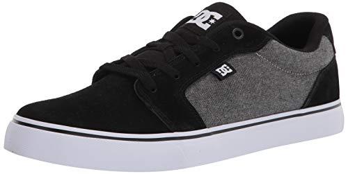 DC Herren Anvil Casual Skate Schuh, (Schwarz/Schwarz/Dunkelgrau), 47 EU