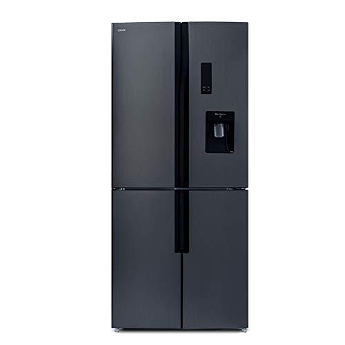 CHiQ FCD418NE4D Frigorífico americano con tecnología Inverter y No Frost de 418 L | Refrigeración rápida | Dispensador de agua | Enfriamiento por aire 3D | 43 db | Pantalla LED