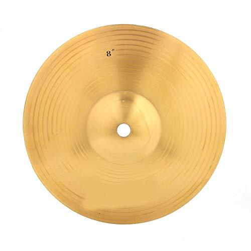 Alomejor 8 Zoll Trommel Crash Becken Professional Brass Jazz Drum Klassisch Becken Crash Musikinstrument Zubehör für Schlagzeug