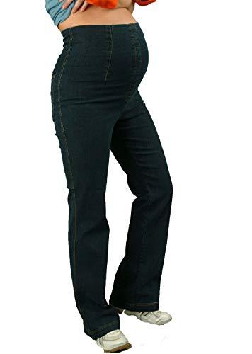 Christoff Umstands-Jeans Schlaghose Boot-Cut Comfortbund - 33/71-38 Jeans Blue (Hoher Bund), Jeans Blue (Hoher Bund), 38/32L