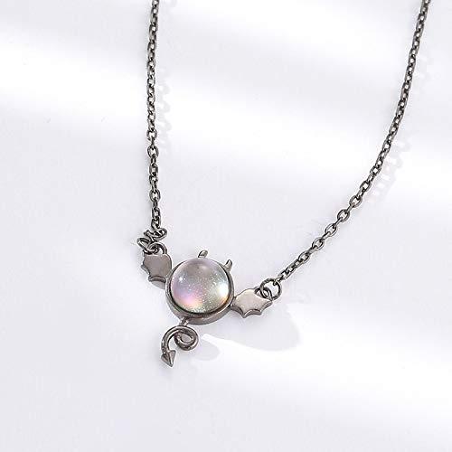 RQQ 925 Collar de Plata Cadena de Cristal Colgante Femenino