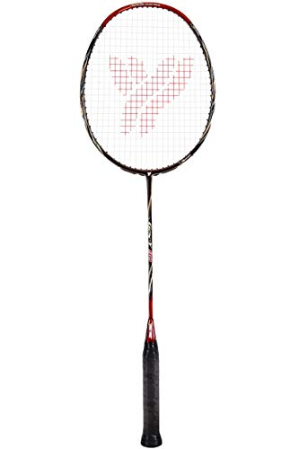 Young Professional Badminton Racket Lightweight High Modulus Graphite Racket (Vital Material for Strength&Shock Absorption reducing Muscle Injury) w/Carrying Bag (PRO: GY 80)