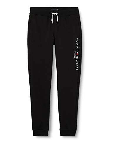 Tommy Hilfiger Essential Sweatpants Pantalones Deportivos, Black, 92 para Niños