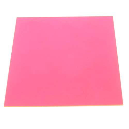 15 × 15 cm Plexiglas-Platte farbige Acryl-Platte DIY Spielzeug Zubehör Modellbau, One Size, Orange