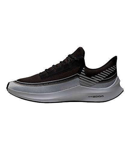 Nike Men's Air Zoom Winflo 6 Shield Running Shoes (11.5, Black/Grey-M)