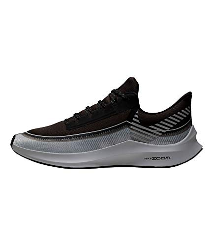 Nike \ Men's Air Zoom Winflo 6 Shield Running Shoes (12, Black/Grey-M)