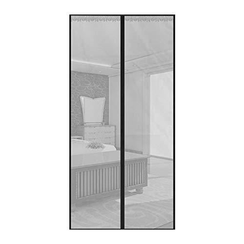 Muggennet met magneetsluiting, standaard voor ramen, voor deuren en deuren van Frankrijk, schuifdeuren, garage, balkon, boot, super transparant, zilver, 100 x 210 cm (39 x 83 inch).