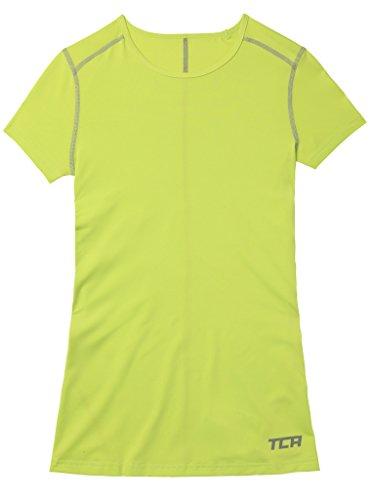 TCA Superthermal Quickdry Damen Laufshirt/Funktionsshirt mit Rundhalsausschnitt – Limettengrün, M - 4