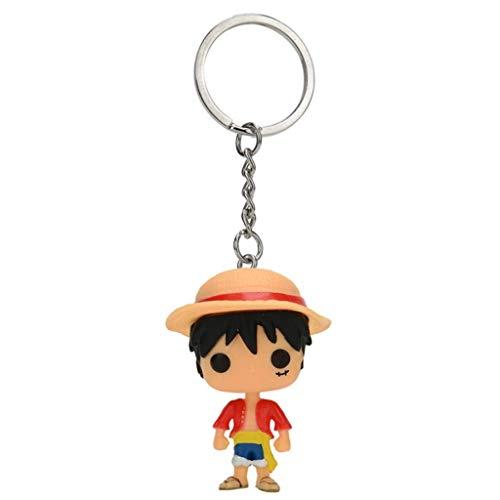 ZEwe Pop Populaire One Piece Monkey D. Luffy Pocket Pock Poupée Grue Clean pour Sacs à Main Q Version Mini Anniversaire Cadeau de Vacances