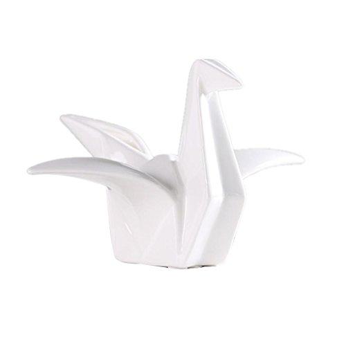 Fenteer Estatua de Figura de Origami Crane Ornameno Decorativo de Escriotorio de Hogar de Oficina - M