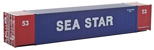 Walthers SceneMaster HO Scale Model of Sea Star (Blue, red, White) 53' Singamas Corrugated Side Container