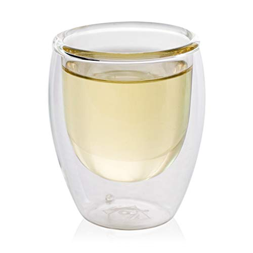 The Exotic Teapot - Double Wall Glass Cup, 200ml, Ultra Clear Glass for Tea, Coffee in Handmade Gift Box