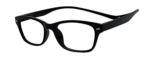 Face Trick glasses マグネット首掛け老眼鏡 UV400クリア防曇加工老眼鏡レンズ/ブルーライトカット鯖江メーカー高性能レンズ老眼鏡 ブラックフレーム/クリア防曇加工レンズ RGC7112-1 +2.00
