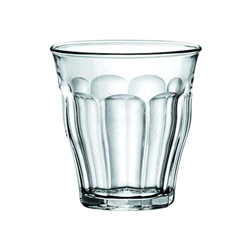 Duralex 1024ab06 / 6 Glass in vetro, 130 ml Capacità, trasparente, 6 pezzi
