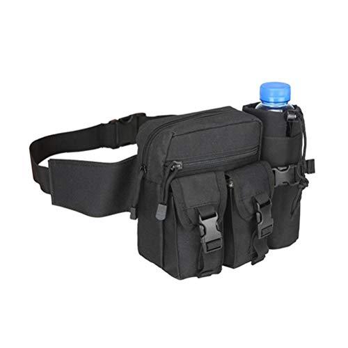 HAOXU Riñonera con bolsa de bolsillo para botella de agua, bolsa de cinturón impermeable para correr