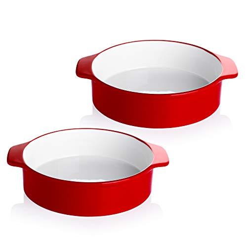 Sweese 524.204 8 Inch Round Cake Pan, Non-stick Baking Pan Set of 2, Red