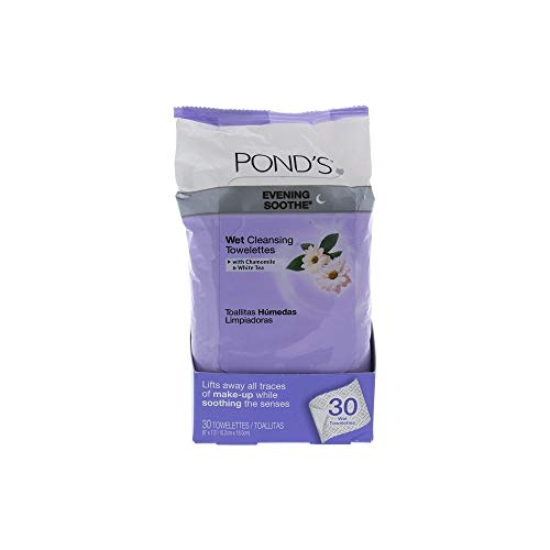 Pond's MoistureClean Makeup Remover Wipes, Evening Soothe, 28 ct