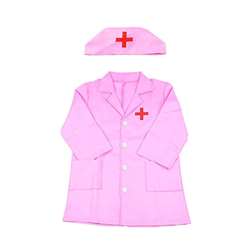 Weedon Unisex Kids Doctor Doctor en Medicina Disfraz Doctor Smock Bata de Laboratorio Juego de rol Juguetes Regalos niña niño Disfraz de Carnaval 3-4 años, Ropa y Sombrero