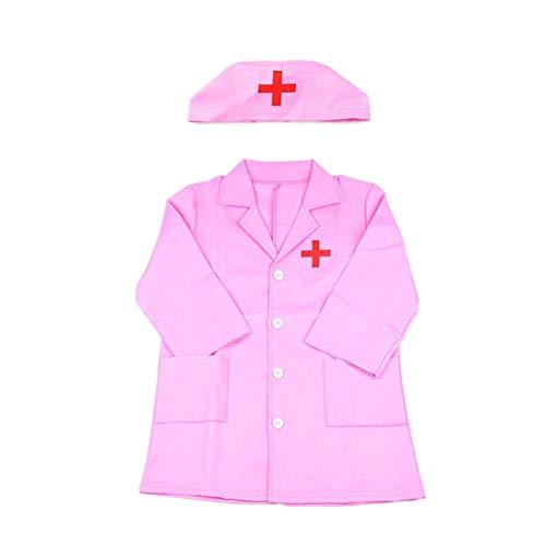EisEyen - Costume da Dottore da Infermiera, per Bambini, Colore: Rosa/Bianco Rosa