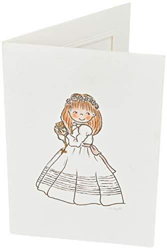 Mopec X760 Portafotos con Marco niña Comunión Libro, Pack de 25, Cartulina, Multicolor, 11. 5 x 17 cm