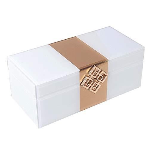 SSG Home Schön Schmuck-Box Einfache Multi-Funktions-große Kapazitäts-Glasplatte Schmuckschatulle Ring Halskette Armband-Schmucksachen Souvenirs Aufbewahrungsbox Geschenkbox