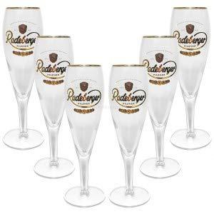 Radeberger Pilsener Bierpokal Glas Gläser-Set - 6x Pilstulpen 0,2l geeicht