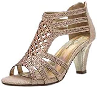 Women's Evening Rhinestone Lexie Crystal Dress Heeled Sandals (L-Kinmi27)