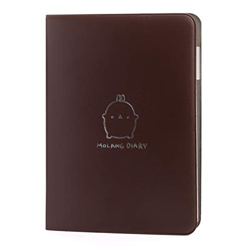 """Jevou 2020-2021 Molang Academic Planner, Notebook Weekly & Monthly Planner with Calendar Stickers, Any Year Scheduler with No Printed Date, 4.5"""" x 6.15"""" ( Cocoa)"""