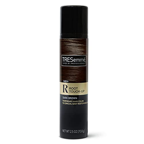 root touch ups TRESemmé Root Touch-Up Dark Brown Hair Temporary Hair Color Ammonia-free, Peroxide-free Root Cover Up Spray 2.5 oz