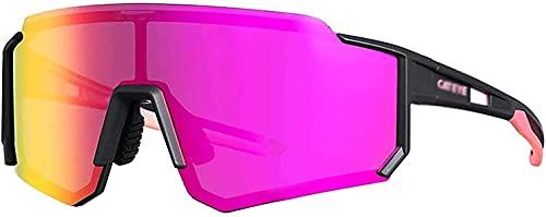 NFRMJMR Gafas Adultas, sin Gafas con Fugas de radiación Ligera Anti-Azul UV Protección para Hombres Mujeres Juveniles, Gafas de Sol Deportivas polarizadas Alta Definición (Color: B) (Color: F)