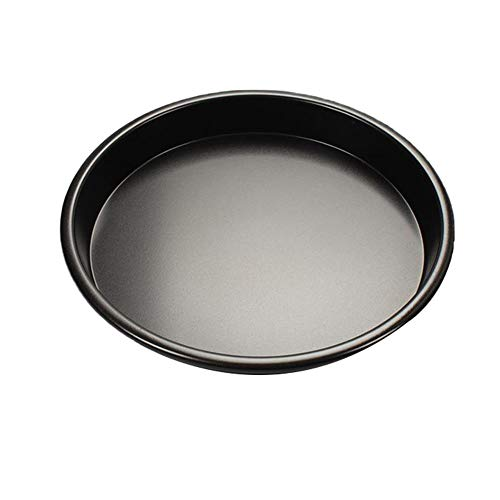 MIGUOR Cheesecake Cake Tin Aluminum 6 Inch Pizza Pan for Making Delicious Layer Cakes Black 16.5Cm