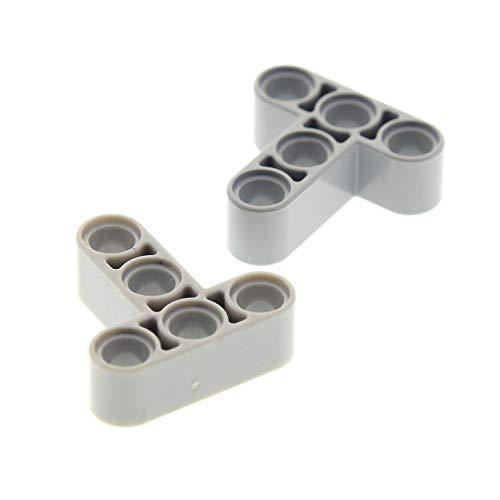 2 x Lego Technic Verbinder neu-hell grau 3x3 T Winkel Pin Halter Star Wars 42030 71042 75059 75019 42050 41999 60484