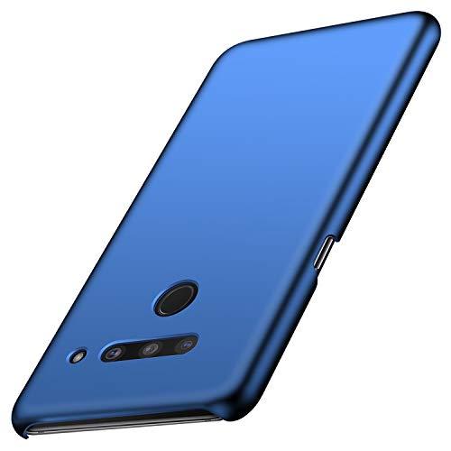 Anccer Kompatibel mit LG V50 ThinQ Hülle, [Serie Matte] Elastische Schockabsorption & Ultra Thin Design (Glattes Blau)